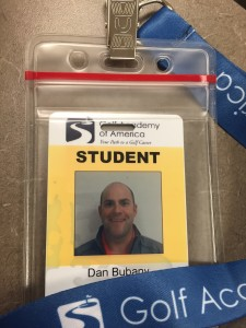 ID badges grant students access to the Golf Academy facility